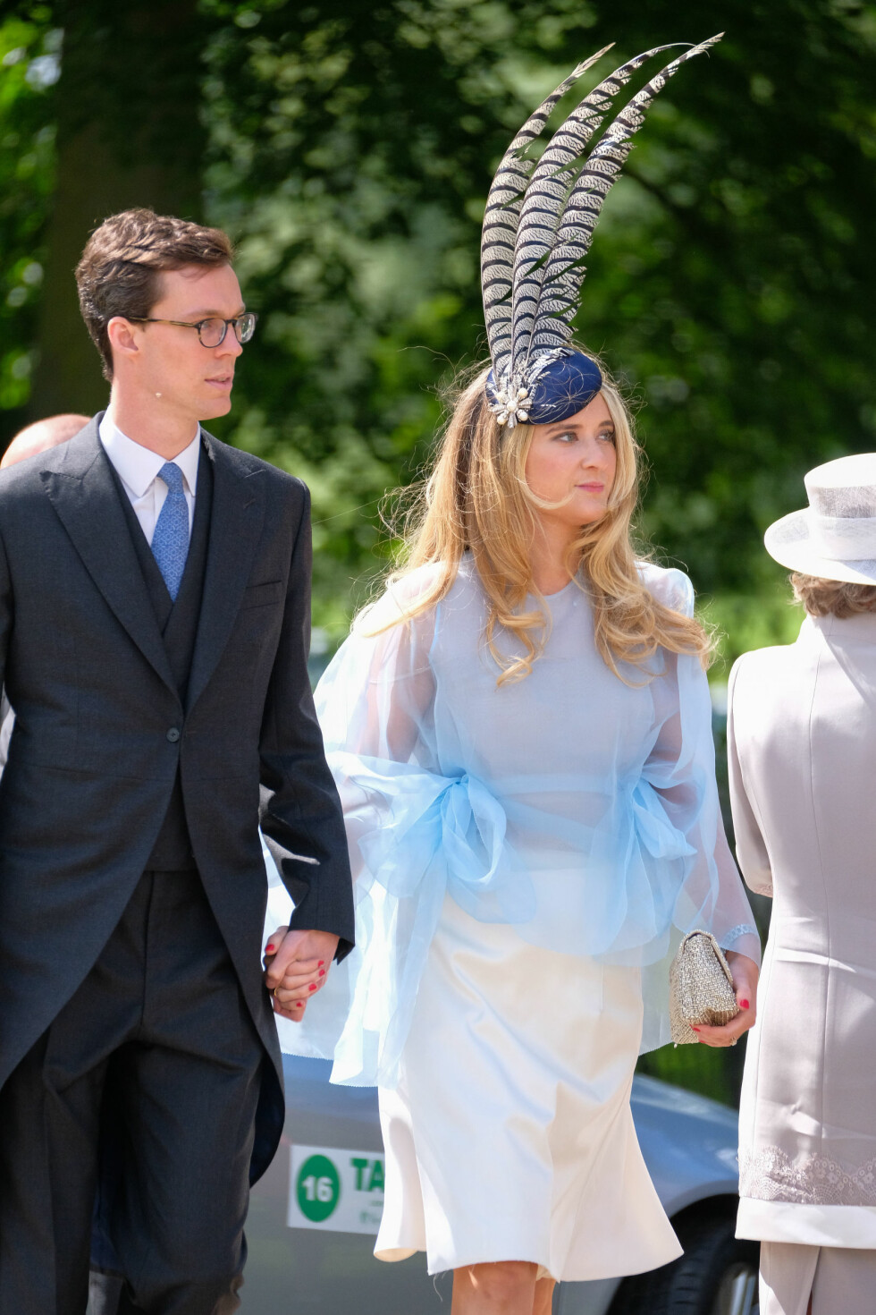 Gjestene ankommer bryllupet til James Matthews og Pippa Middleton Foto: Splash News