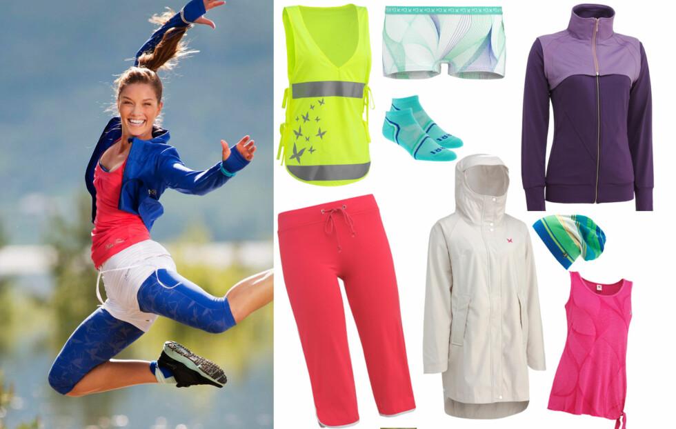 SPORTY VÅR/SOMMERKOLLEKSJON: I februar/mars neste år lanserer Kari Traa sin vår- og sommerkolleksjon for 2012, som består av treningstøy, regntøy, undertøy, accessoirer og sportsundertøy.  Foto: Kari Traa