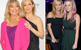 Her er 15 kjendisdøtre som er klin like sine verdensberømte mødre!