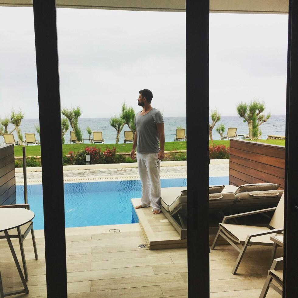 Hotellrommet man ikke ønsker å forlate Foto: Privat