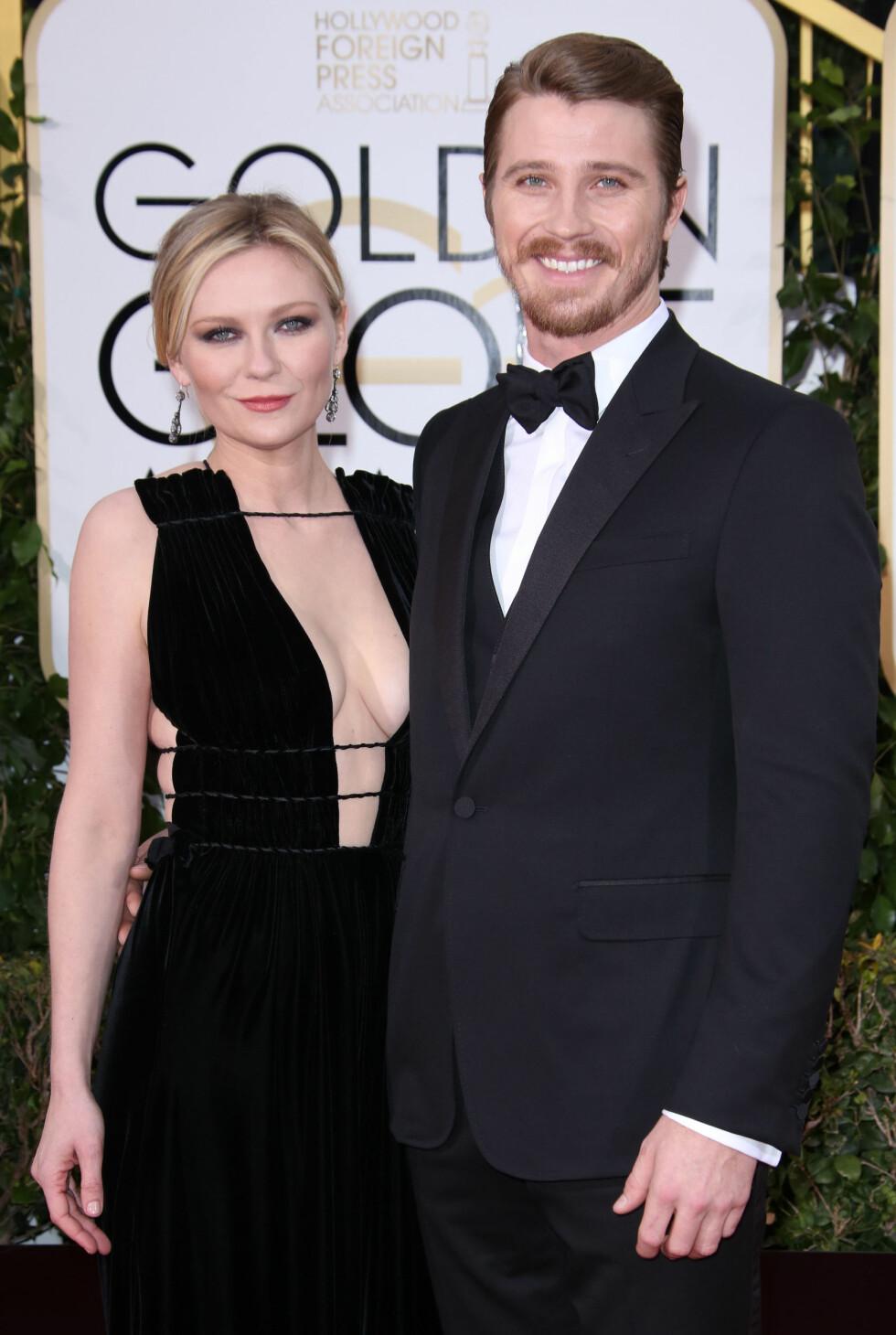 BRUDD: Etter fire år som et av Hollywoods hotteste skuespillerpar annonserte Kirsten Dunst og Garrett Hedlund i april at de to hadde valgt å bryte forholdet. Foto: NTB Scanpix