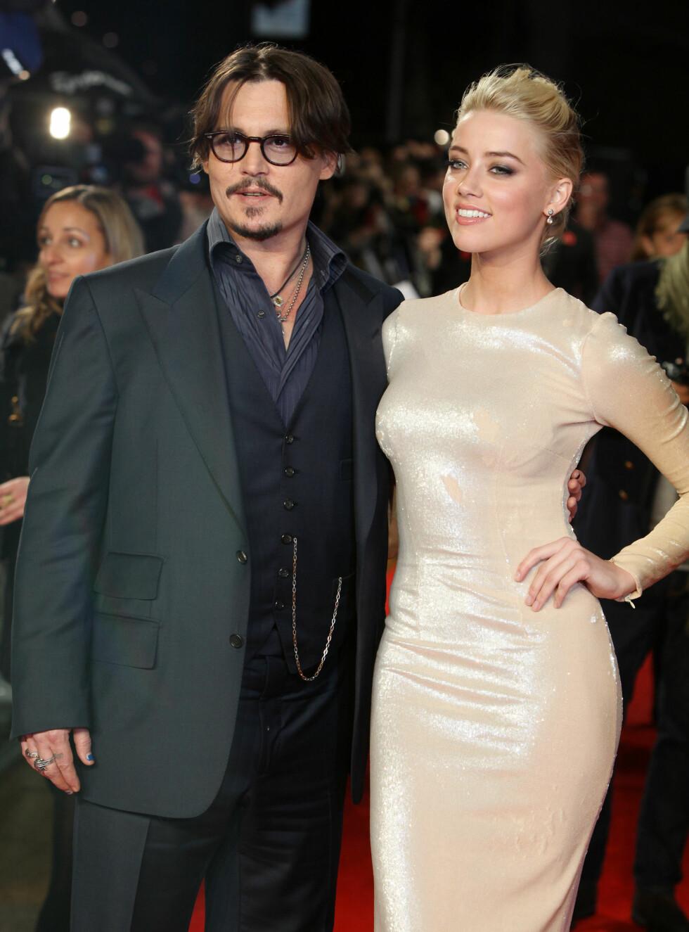 BRUDD: Etter litt over ett år som mann og kone ble det i mai kjent at superparet Johnny Depp og Amber Heard skulle skilles. Foto: NTB Scanpix