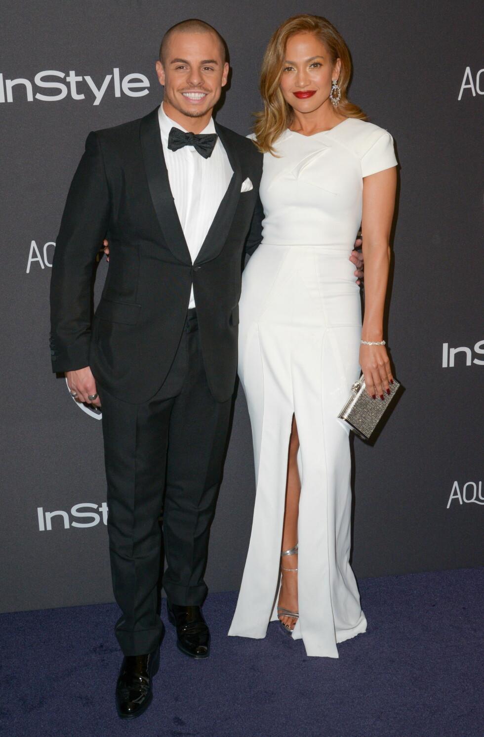 BRUDD: I august ble det kjent at sanger Jennifer Lopez og danser Casper Smart hadde gjort det slutt. De har vært et par siden 2012.  Foto: NTB Scanpix