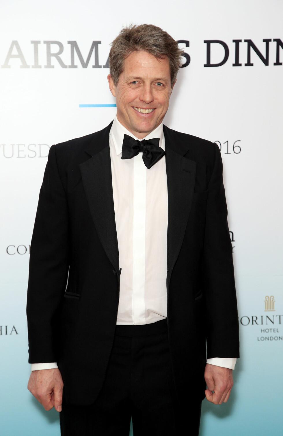 ALDRI VÆRT GIFT: Skuespiller Hugh Grant (55). Foto: NTB Scanpix