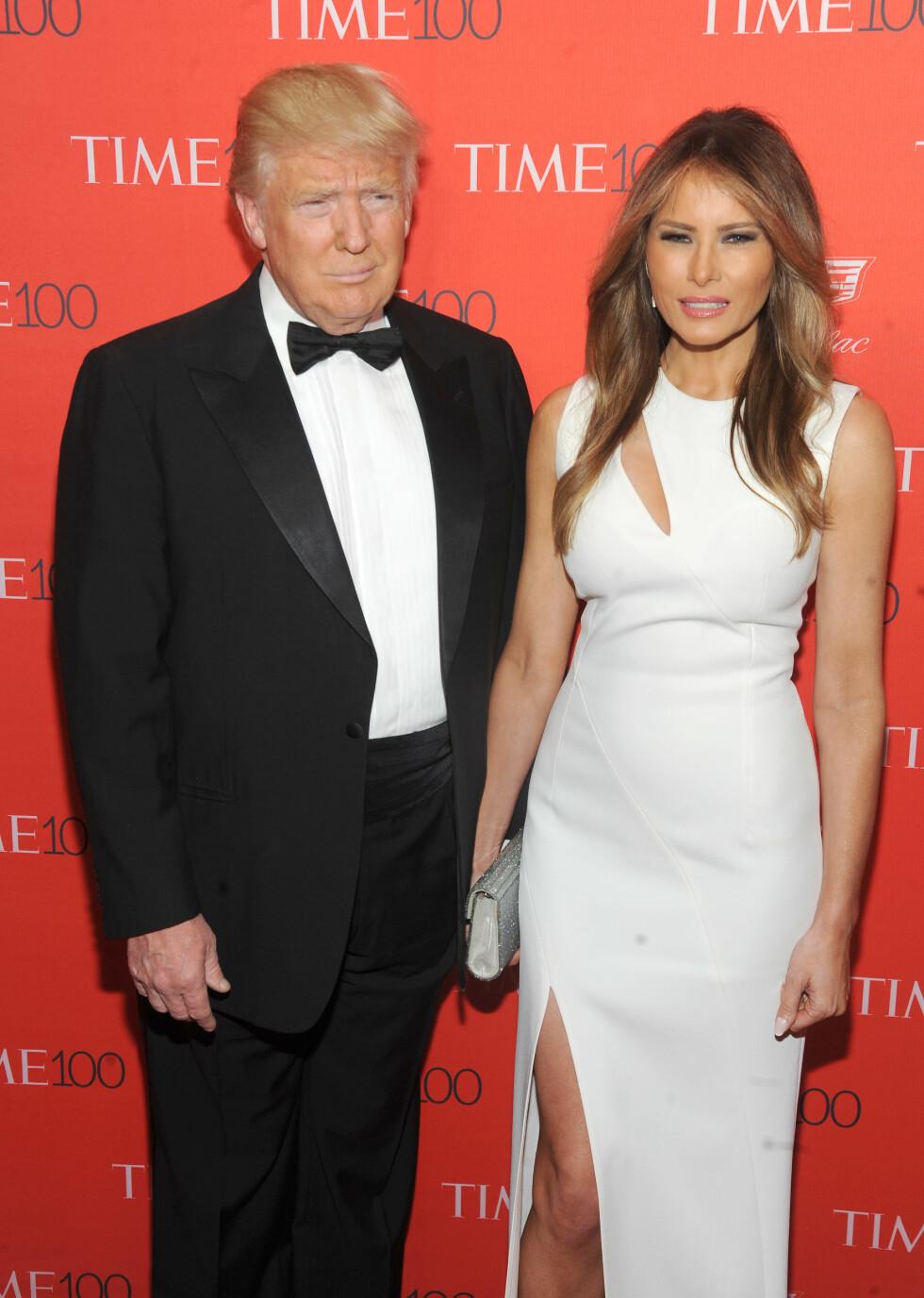 OFTE I HVITT: Melania Trump er glade i hvite antrekk, så det skal du ikke se bort ifra at det blir en del av i Det Hvite Hus. Foto: Splash News