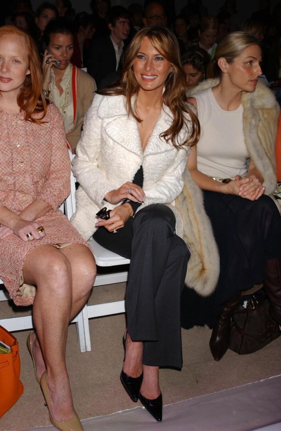 2005: Melania Trump har jobbet som modell, og er ofte å se på første rad under moteukene.  Foto: Ap