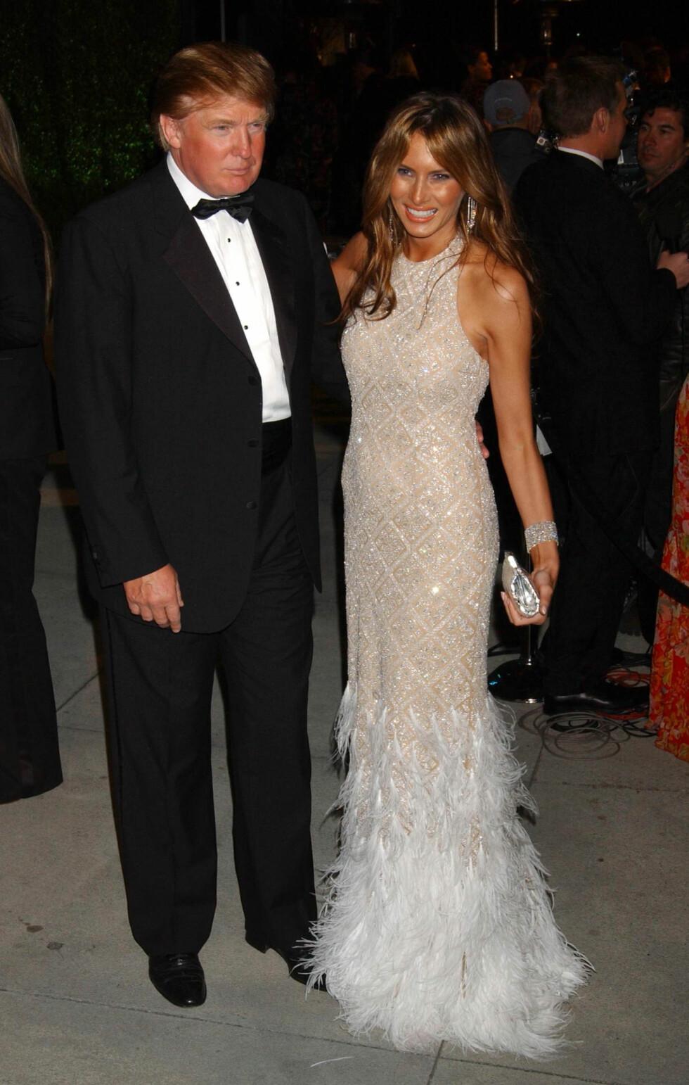 2005: Vi gleder oss til å se alle galla-kjolene til Melania Trump i årene framover! Foto: Ap