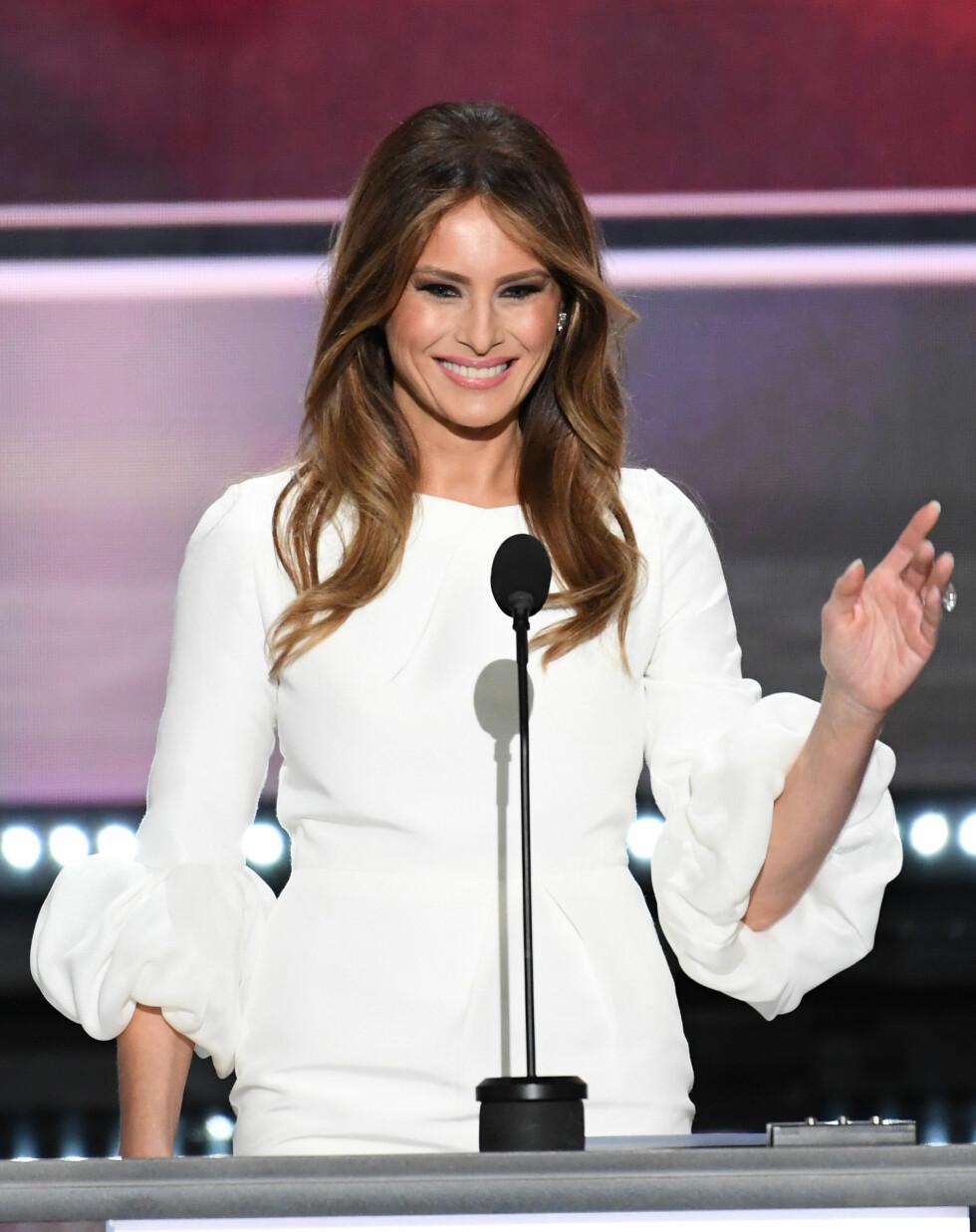 UHELDIG TALE: Melania Trump ble anklaget for plagiat av Michelle Obamas tale under Republican National Convention.  Foto: DPA