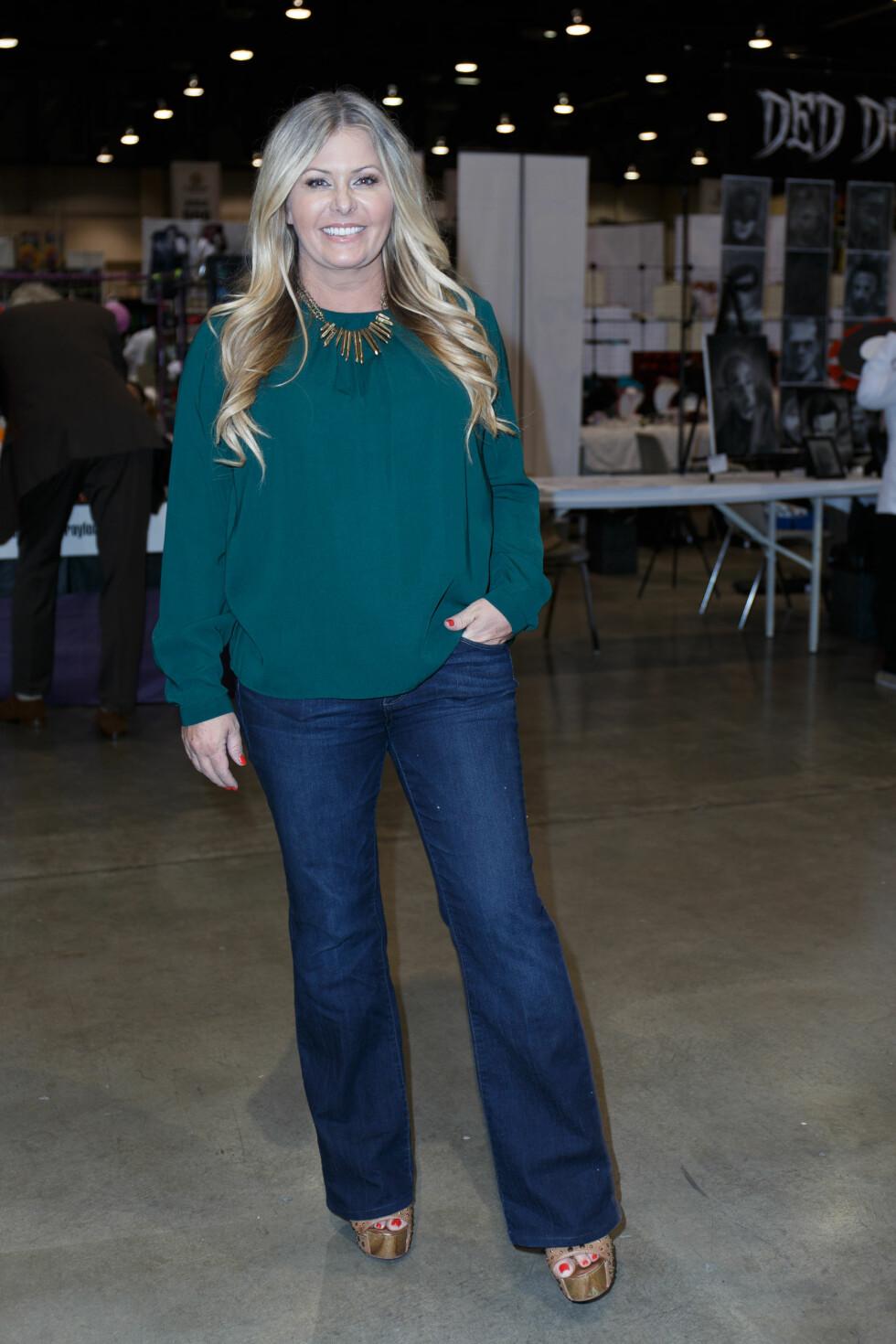 NICOLE EGGERT I 2015:  Etter Baywatch (og en brystforstørrelse) fikk Nicole mindre roller på tv, men fikk etter hvert en del personlige problemer, særlig i forhold til vekten. De siste årene har hun deltatt i en del mindre realityshow, blant annet Celebrity Fit Camp på VH1.  Foto: Splash News