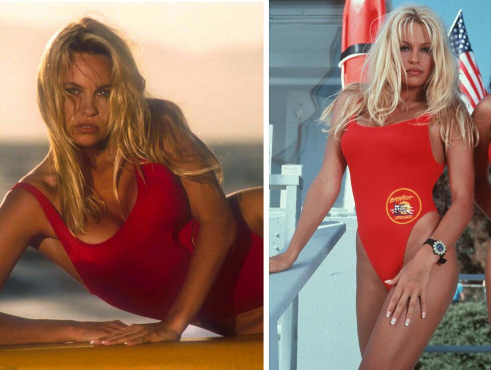 PAMELA ANDERSON SOM C.J.PARKER: Spilte i serien fra 1992 til 1999 og ble kanskje den største stjernen av dem alle!
