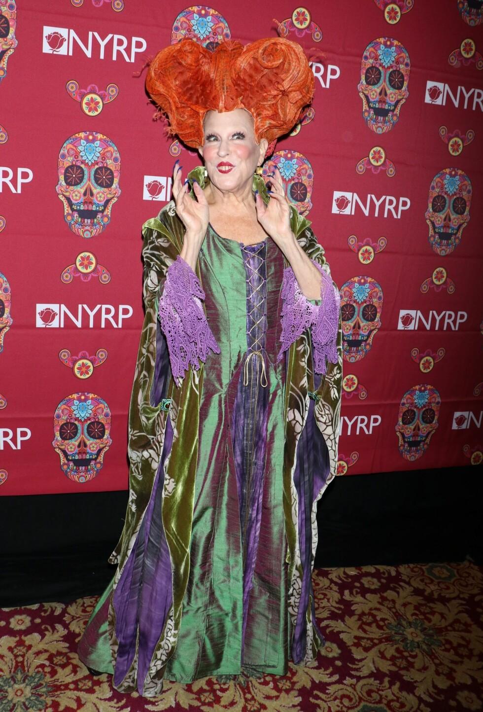 HALLOWEEN 2016: Bette Midler som rollen sin i Hocus Pocus. Foto: Rex Features