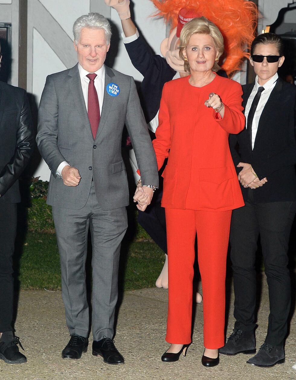 HALLOWEEN 2016: Katy Perry som Hillary Clinton og Orlando Bloom som Bill Clinton. Foto: Broadimage
