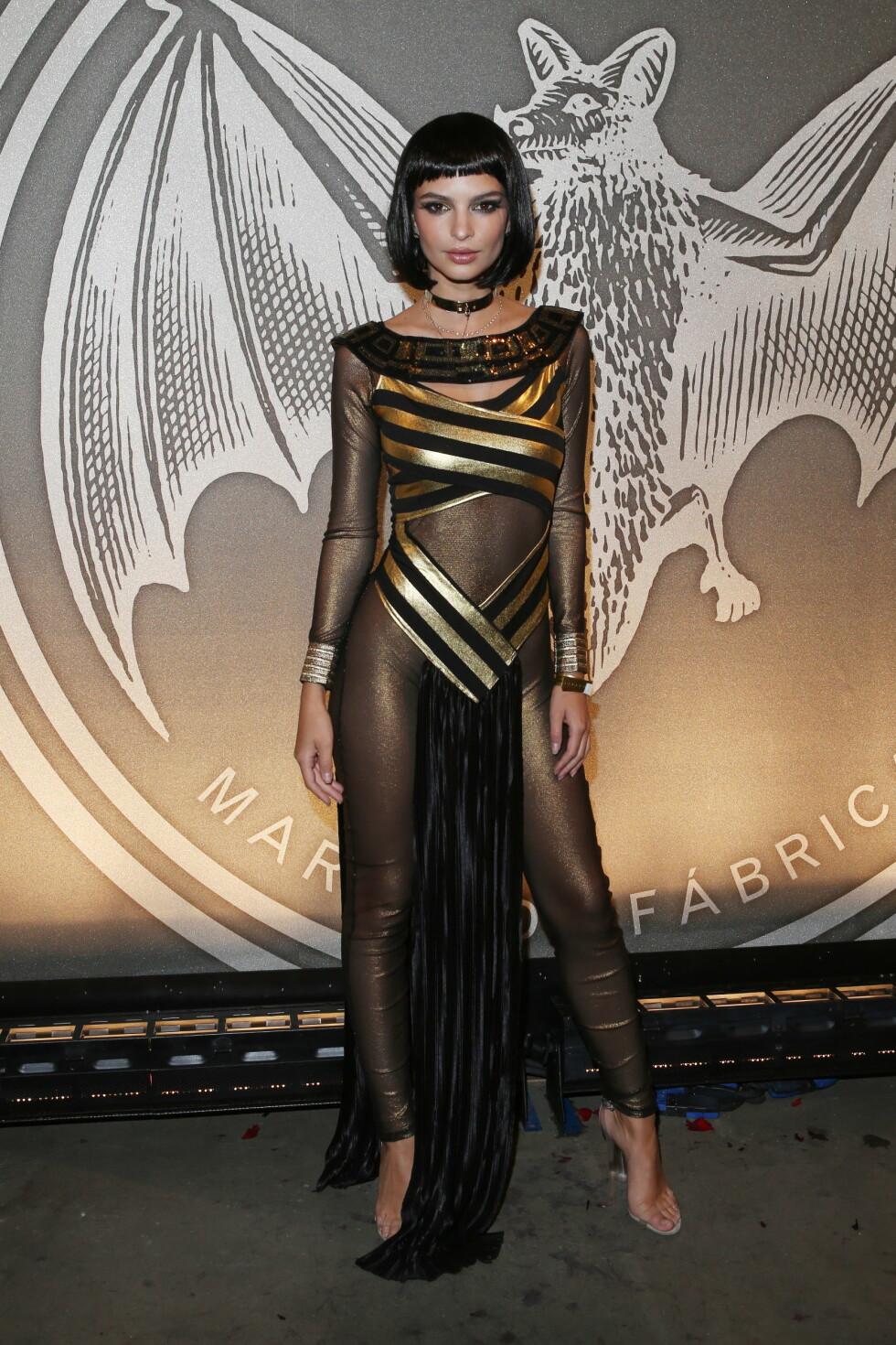 HALLOWEEN 2016: Emily Ratajkowski som Cleopatra. Foto: wenn.com