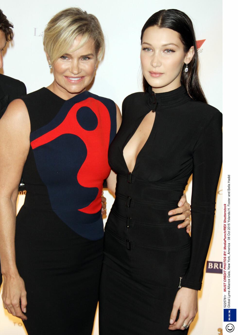 BELLA: Yolanda Hadid med datteren Bella Hadid.  Foto: Rex Features