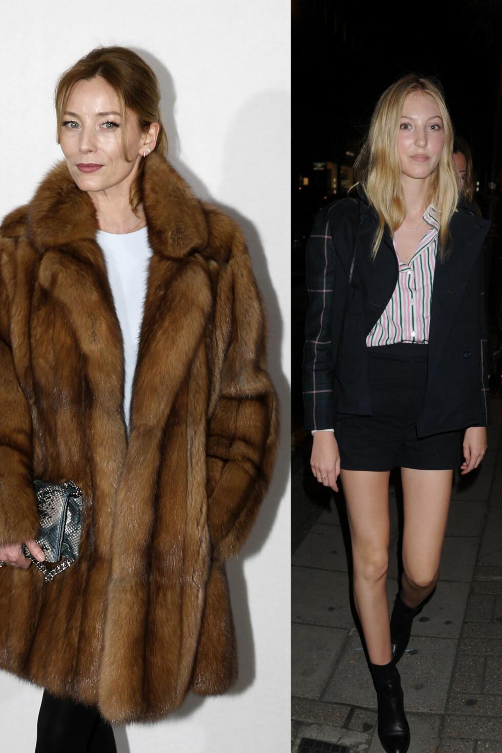 ELLA: Ella Richards (venstre) er datter av Lucie De La Falaise. Ella har allerede gått i moteshow til blant annet Prada og Valentino. Foto: NTB scanpix