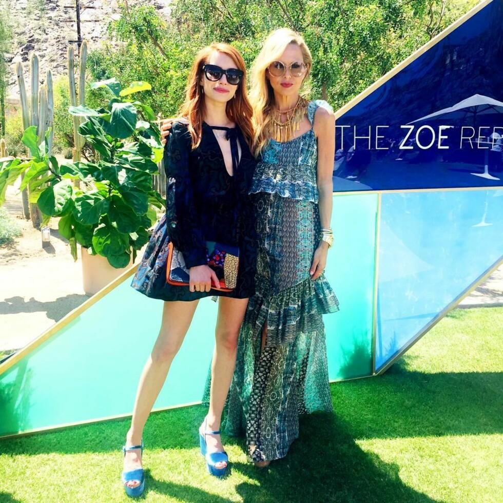 Rachel Zoe og Emma Roberts. Foto: SipaUSA