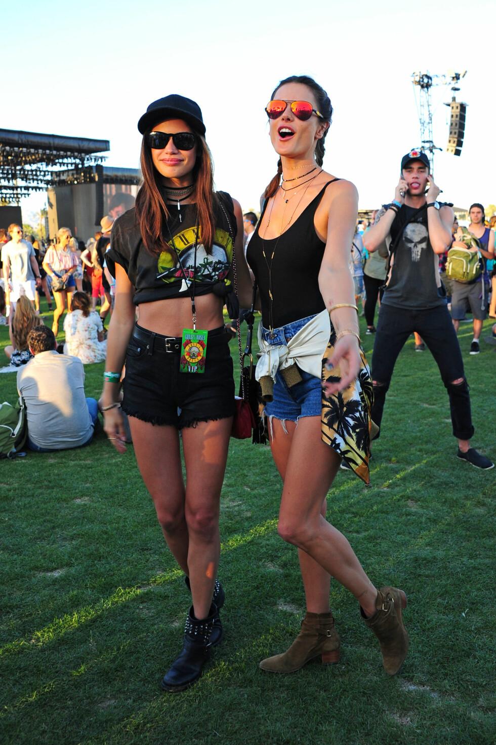 Supermodell Alessandra Ambrosio og Sara Sampaio Foto: Xposure
