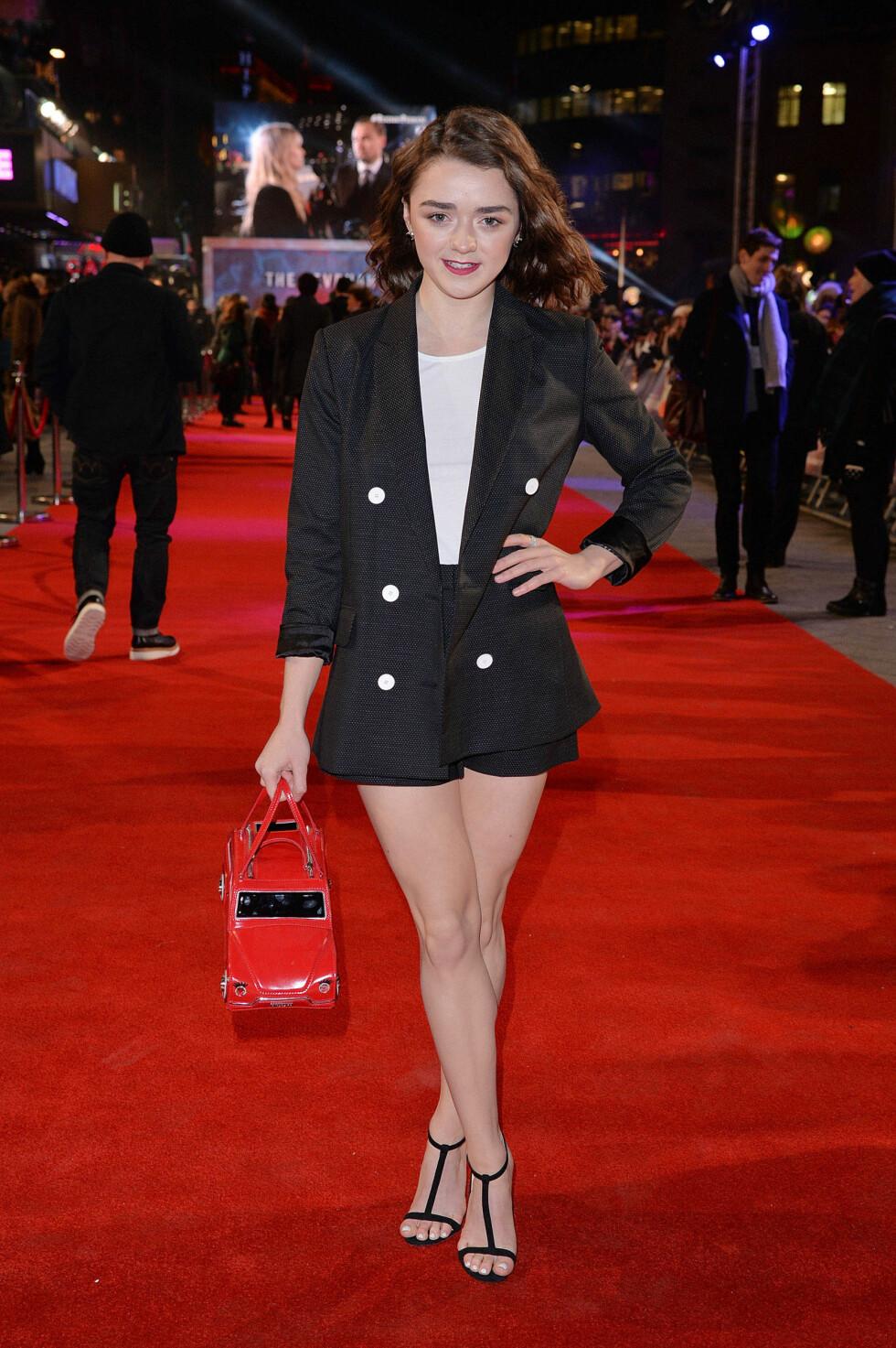 Maisie Williams på premieren av The Revenant. Foto: Pa Photos