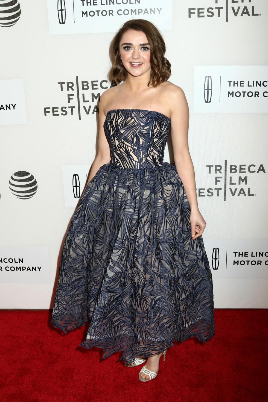 Maisie på premieren av The Devil And The Deep Blue Sea på Tribeca Film Festival i New York. Foto: Pa Photos