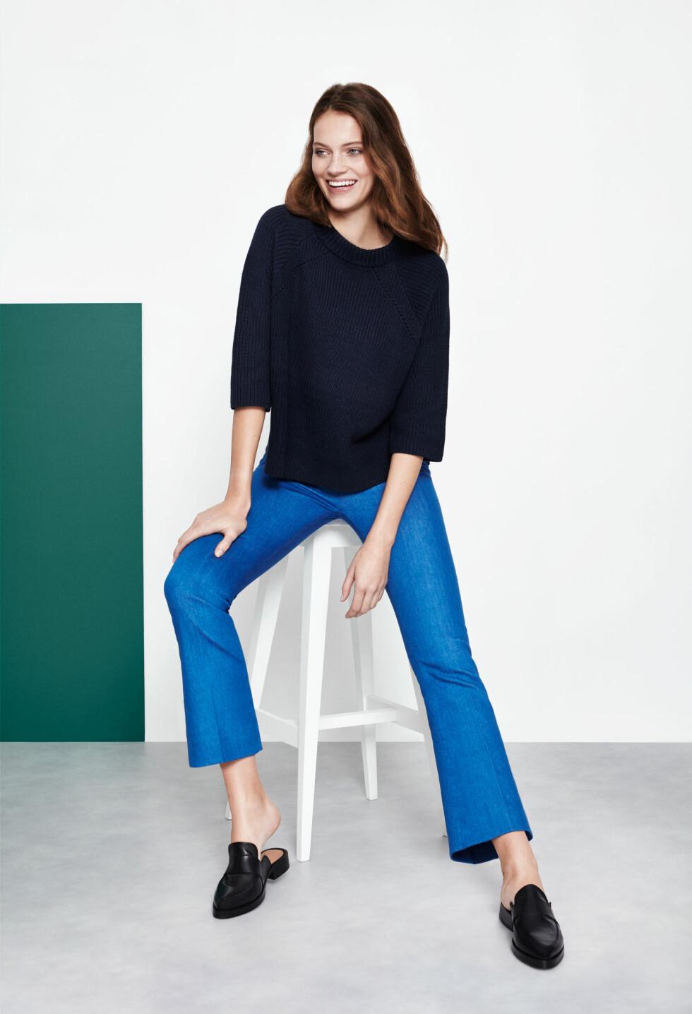 Ankelcroppede jeans med lett sleng er blant sommerens trender.  Foto: Lindex