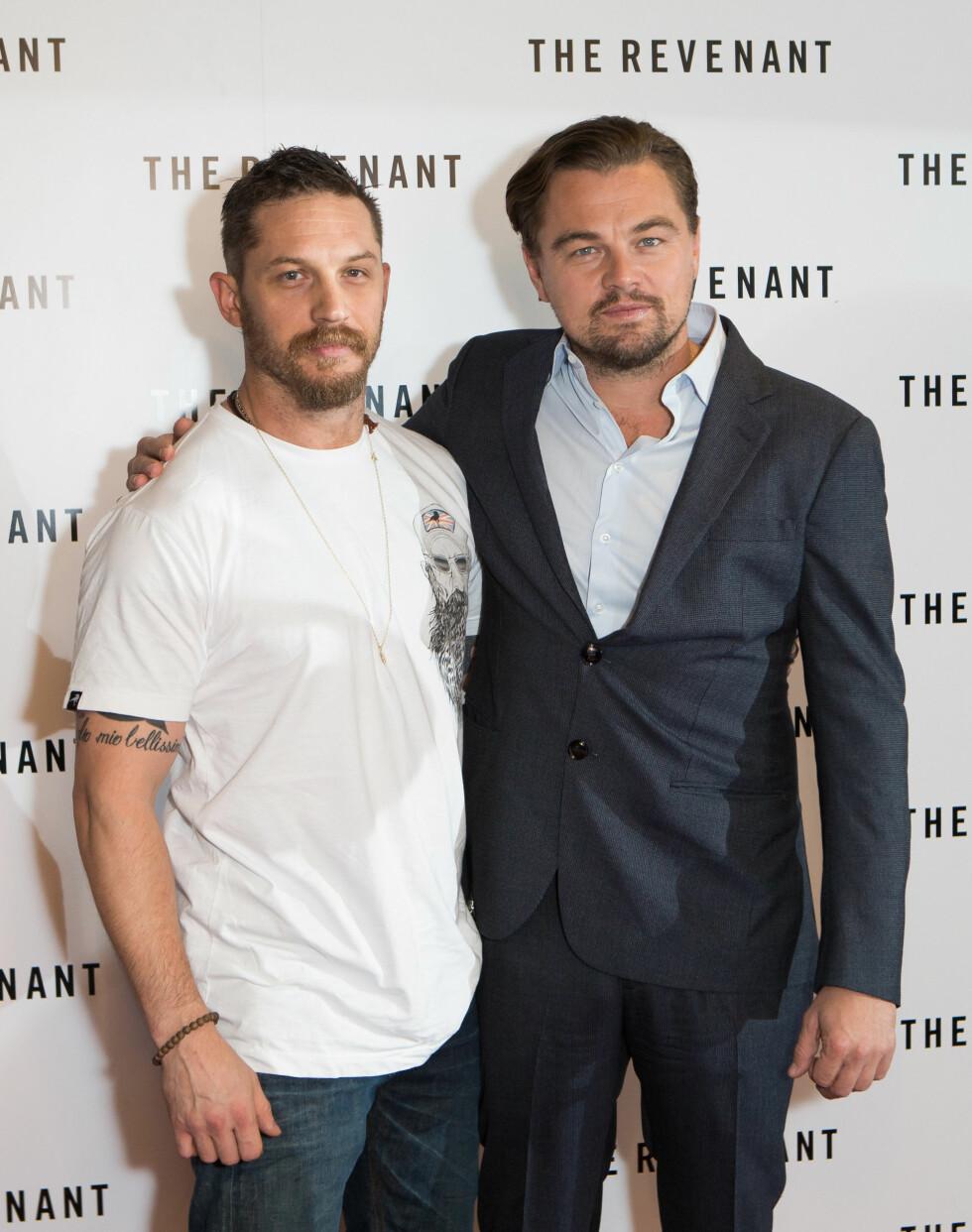 TOM HARDY OG LEONARDO DICAPRIO: Kjekkasene er for tiden å se i den Oscar-nominerte storfilmen «The Revenant».  Foto: NTB Scanpix