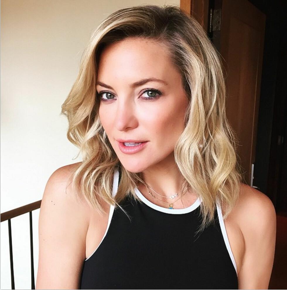 KATE HUDSON: I sommer viste den amerikanske skuespilleren at hun er med på hårmotene. Foto: NTB Scanpix