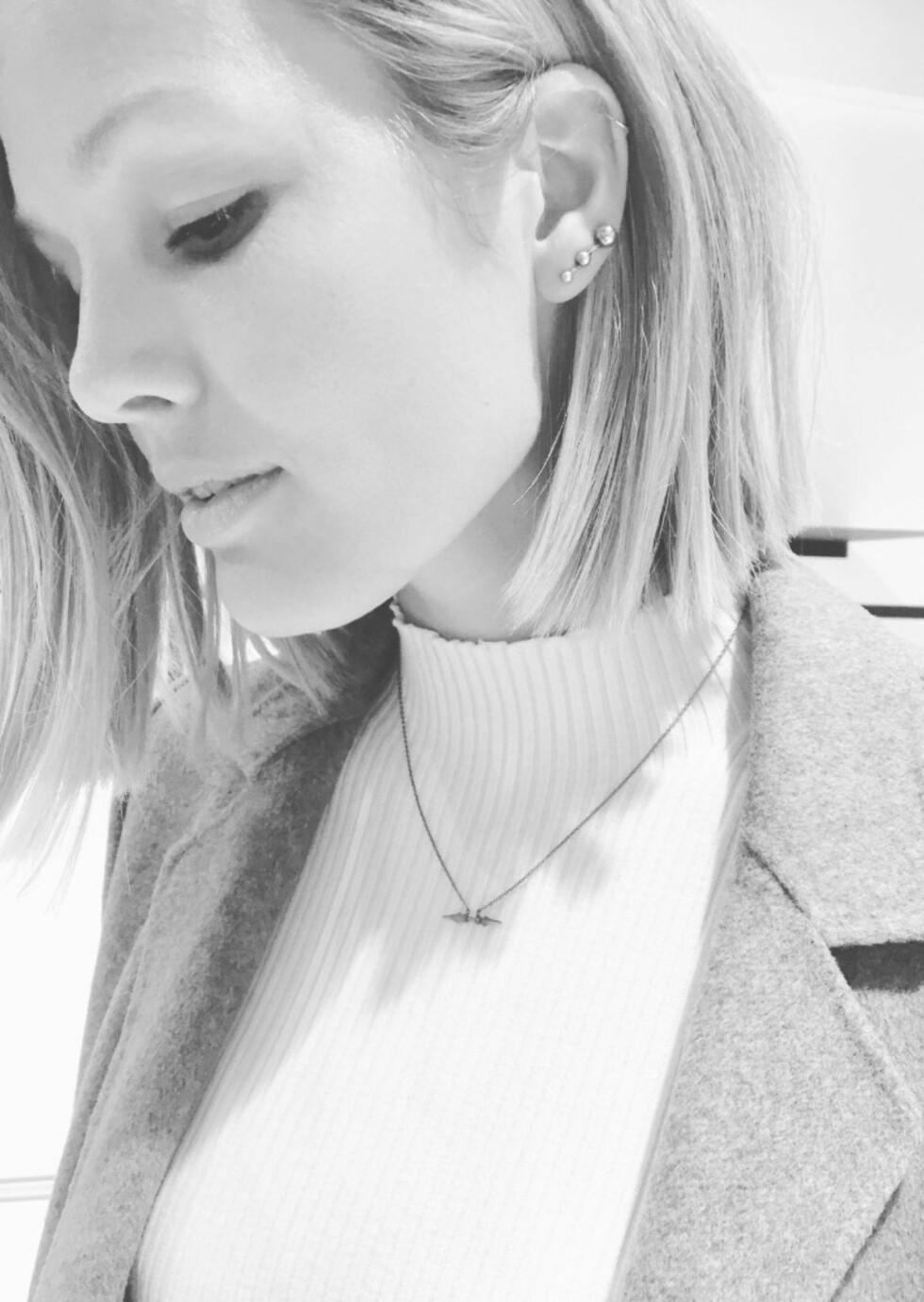 MARIA SKAPPEL HOLZWEILER: Designeren og modellen tipser KK.no-leserne om sine triks for å vedlikeholde loben. Foto: Privat