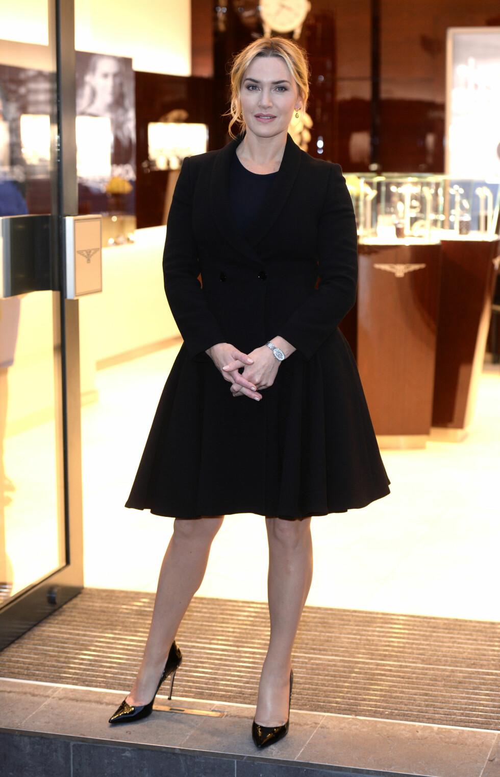 HELSORT: Vi ser ofte Kate Winslet i helsorte antrekk! Foto: Pa Photos