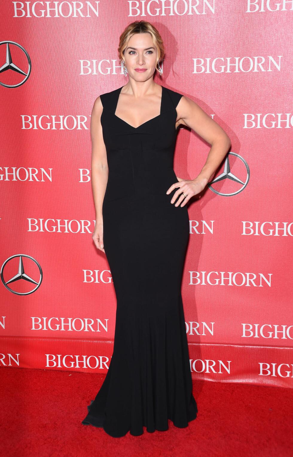 RØD LØPER: Kate Winslet så vakker og elegant ut på Palm Springs International Film Fest 2016 Gala. Foto: Splash News