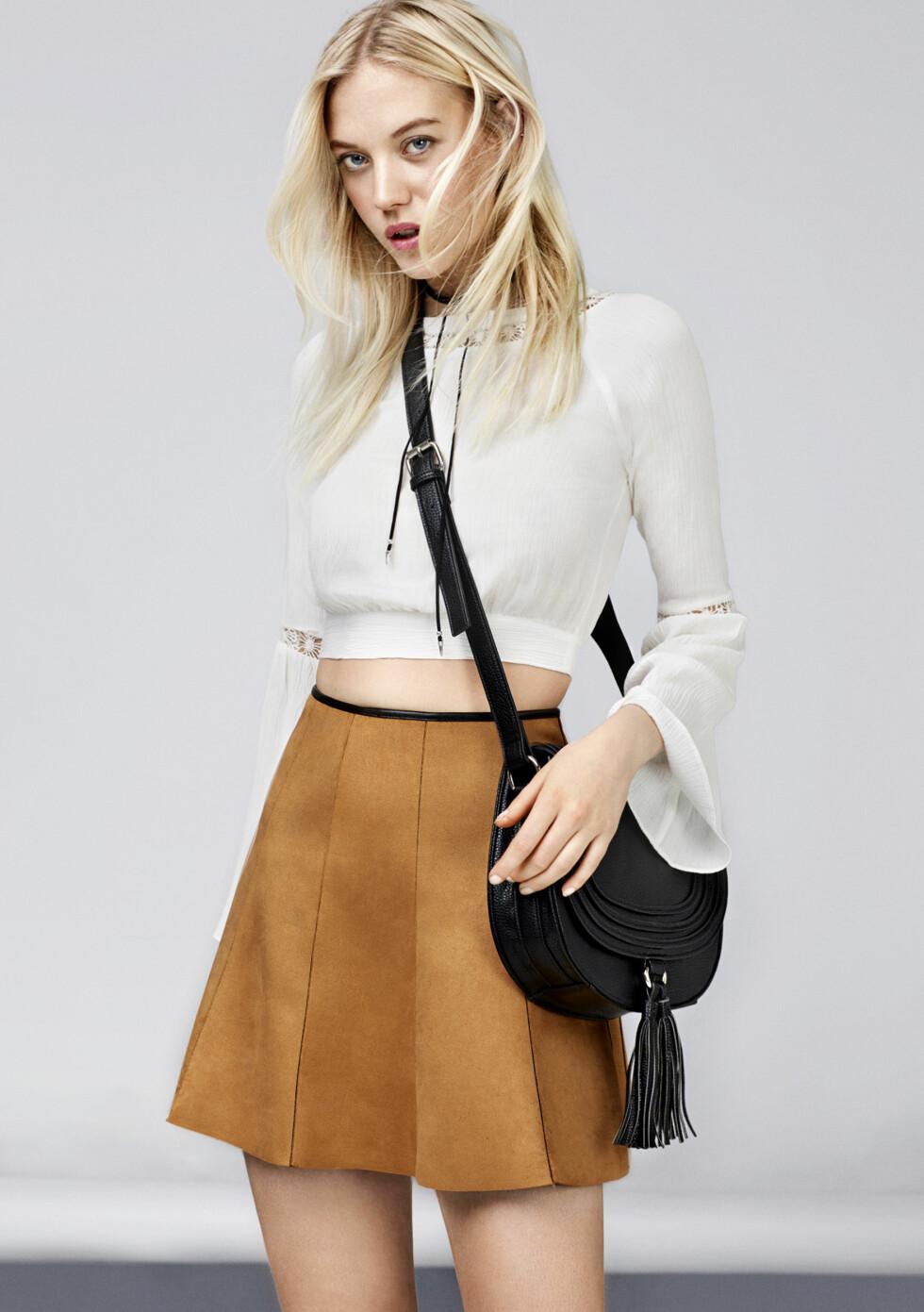 INSPIRERT AV CHLOE: Den sorte vesken er veldig lik trendvesken Chloe Hudson! Foto: Bik Bok