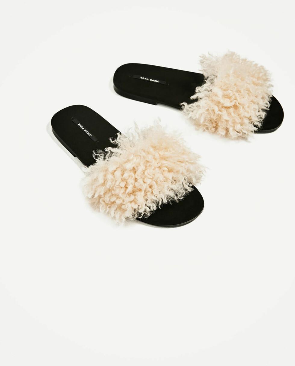 Sandaler fra Zara   kr 399   https://www.zara.com/no/no/dame/sko/flate-sandaler/flat-sandal-i-kunstpels-c358010p4210009.html