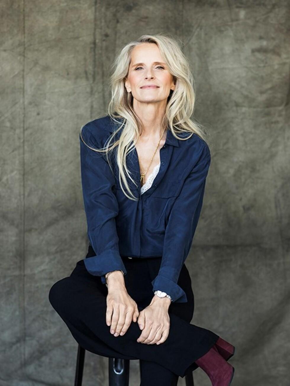 ALDER INGEN HINDRING: Torun Johansson Delhalle er 53 år og har gjort comeback som modell.  Foto: Daniela Ferro