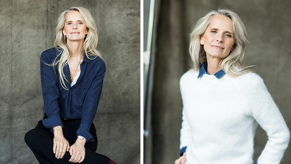 SUPERMODELLER: Svenske Torun Johansson Delhalle er 53 år og jobber som modell - hun startet karrieren som 17-åring i Paris, og gjorde comeback i en alder av 50. Foto: Daniela Ferro