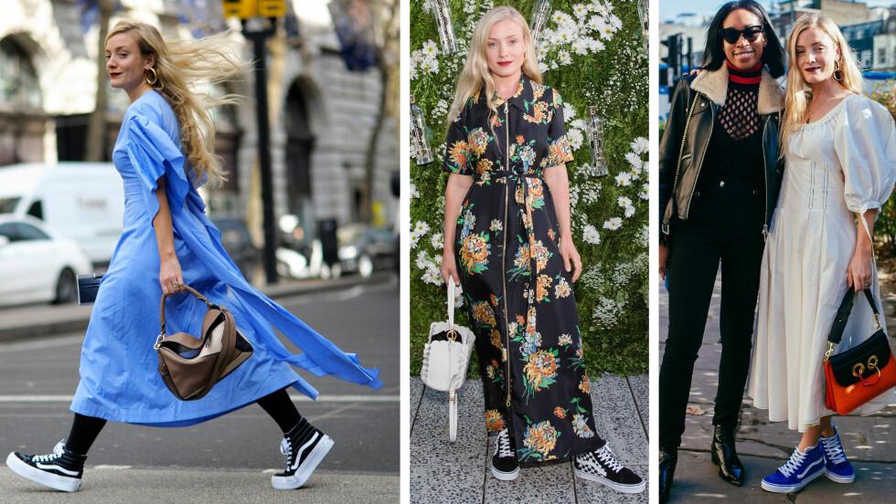 STYLISTFAVORITT: Den britiske stylisten Kate Foley bruker Vans til alle anledninger. Foto: NTB Scanpix