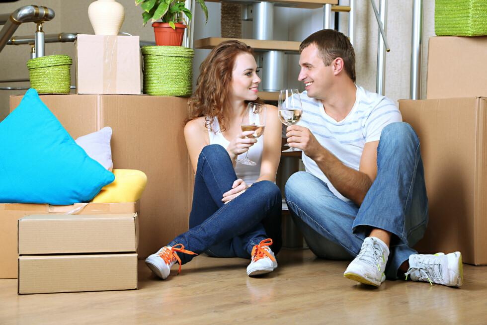 PRISENE HAR FALT: Drømmer dere om ny bolig kan dette være tiden.  Foto: Scanpix