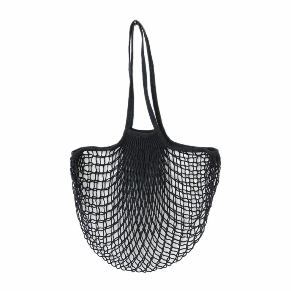Nett-veske fra The Fine Store | kr 115 | https://thefinestore.com/products/net-bag-long-handles-black