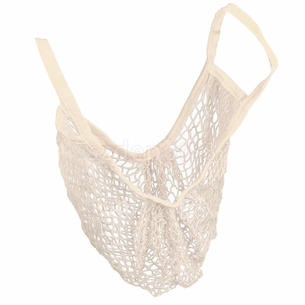 Nett-veske via Ebay | kr 18 | http://www.ebay.com/itm/Reusable-String-Shopping-Grocery-Bag-Shopper-Tote-Mesh-Net-Woven-Cotton-Bag-/122325247036?hash=item1c7b27243c:g:msUAAOSwopRYh5qc