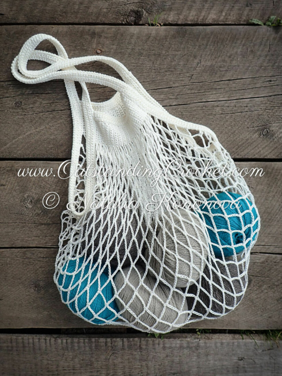Nett-veske via Etsy | kr 54 | https://www.etsy.com/no-en/listing/457054522/crochet-market-bag-pattern-grocery?ref=hp_rv