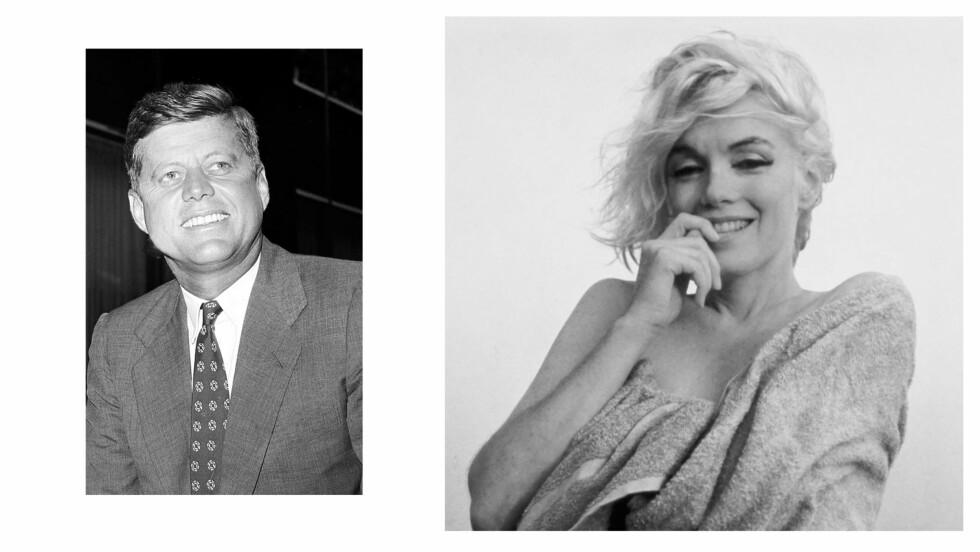 MARILYN MONROE OG JOHN F. KENNEDY: Hollywood-divaen Marilyn Monroe skal ha bekreftet at hun og president John F. Kennedy hadde en affære i 1962.  Foto: NTB Scanpix