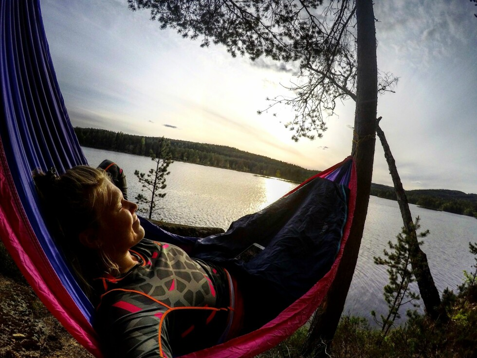 EVENTYRLYSTEN: Martine Grorud er ofte på telttur. Foto: Privat