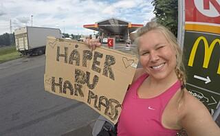 Martine (25) haiker fra Oslo til Lofoten