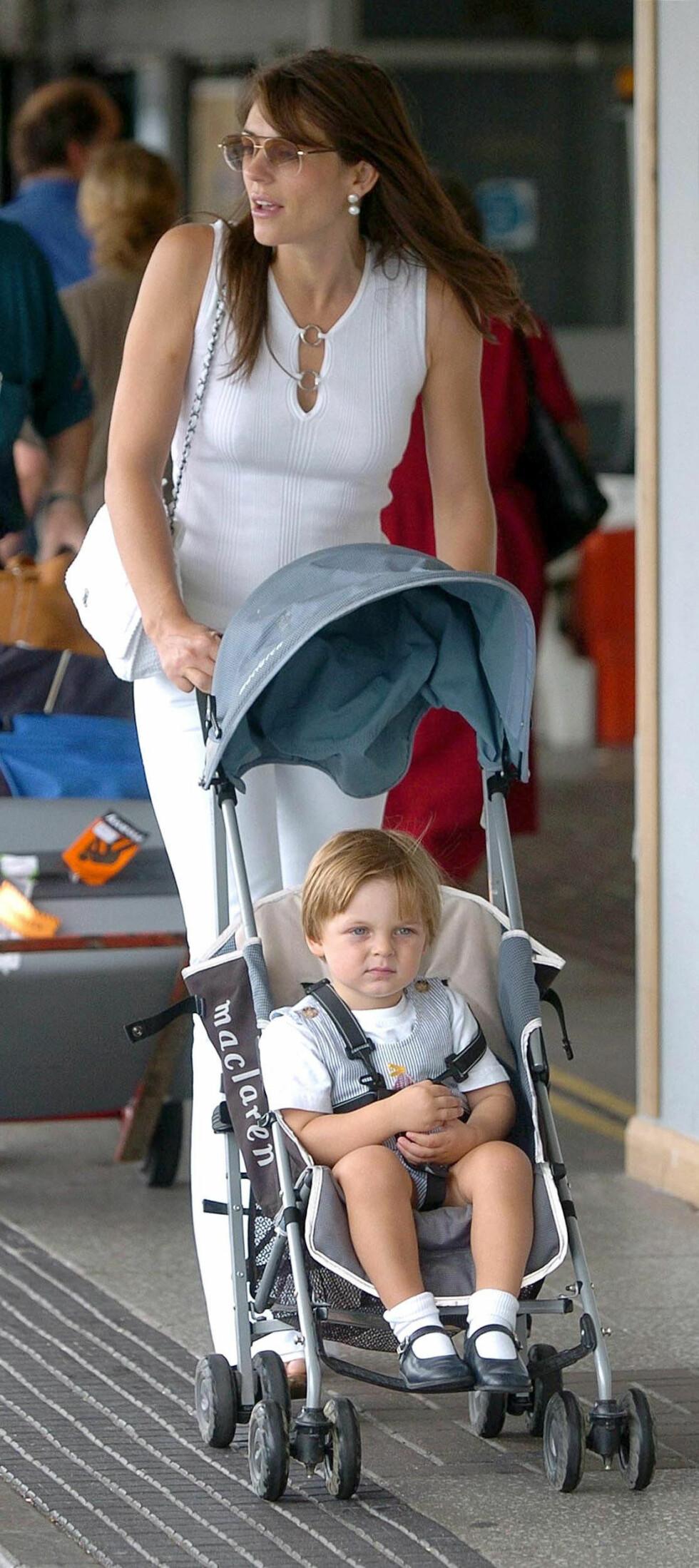 2004: Huley fikk sønnen Damon i 2002 sammen med Steve Bing. Foto: Ap