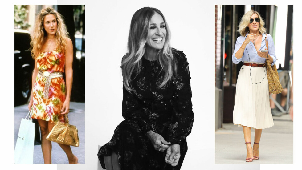 SARAH JESSICA PARKER: Sex og singelliv-stjernen Sarah Jessica Parker er kjent for sine lange krøller, men har nå frisket opp frisyren med en kortere platinablond variant. Foto: NTB Scanpix // HBO