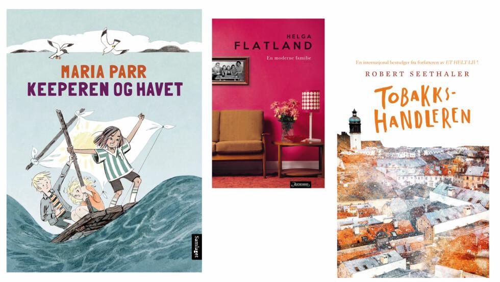 BOKNYHETER 2017: Dette er noen av bøkene vi gleder oss til i august! Foto: Forlagene