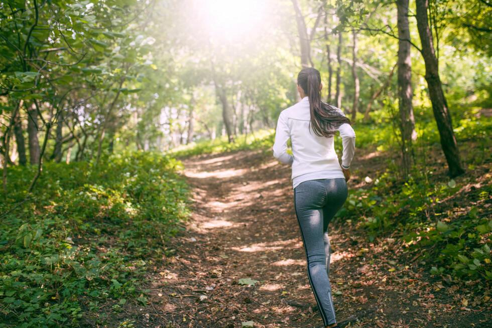 KOM DEG UT: All bevegelse du får er bra for deg. En tur i skog og mark kan være en fin start på treningsrutinene igjen. Foto: NTB scanpix