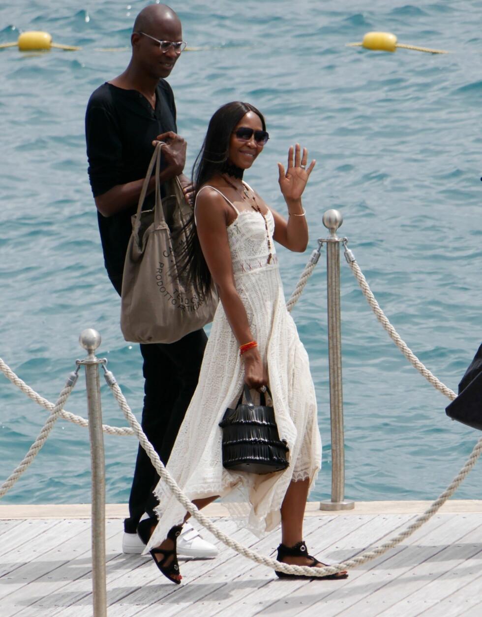 Naomi Campbell ankommer Hotel Du Cap Eden Roc i Antibes, Frankrike Foto: Splash News
