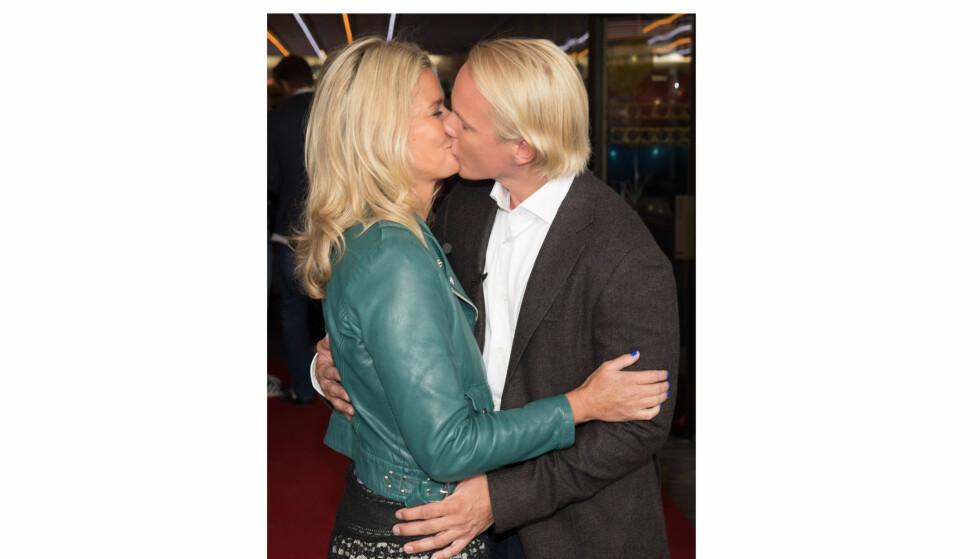 <strong>VENDELA OG PETTER:</strong> Kjæresteparet Vendela Kirsebom og Petter Pilgaard viser kjærligheten i ny dokumentarserie på TV 2 Livsstil. Foto: TV 2