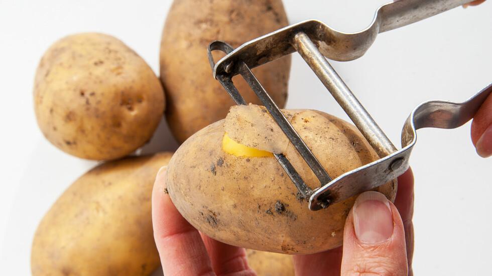 SKALLET PÅ POTETEN: Er næringsrikt og godt, og bør faktisk ikke kastes! Foto: majivecka - Fotolia