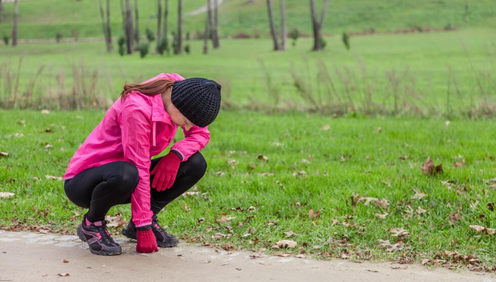 VANLIG MED MAGEVONDT: Mageknip på en lang løpeøkt er ikke uvanlig. FOTO: Scanpix