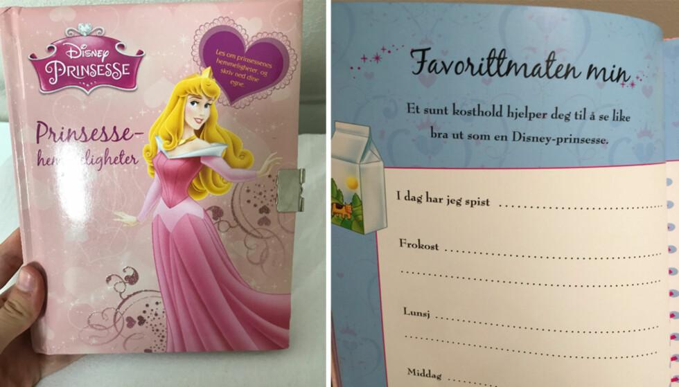DISNEY-PRINSESSE: Mathilde Cvitanovic fikk sjokk da hun fant denne boken. Foto: Privat